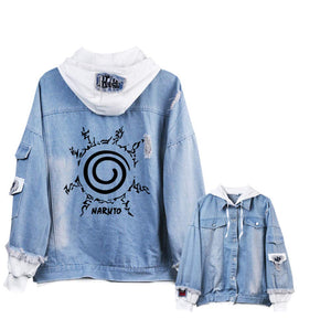 Gumstyle Anime Naruto Denim Jacket - FreshFitForGuys