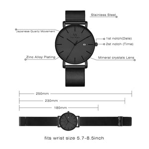 Vigor Rigger Men's Quartz Watches, Minimalist Analog Date Display Wrist Watch - FreshFitForGuys