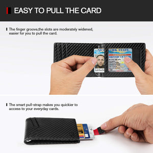 Minimalist Slim Bifold Front Pocket Wallet with Money Clip (RFID Blocking) - FreshFitForGuys