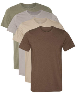Kennedy Todd 4 Pack Men's Heather Cotton Poly T-Shirts - FreshFitForGuys