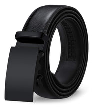Leather Ratchet Dress Belt with Automatic Buckle - FreshFitForGuys