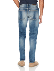 Denim Garage Classics Men's Relaxed Straight Leg Stretch Jean Mid Blue - FreshFitForGuys