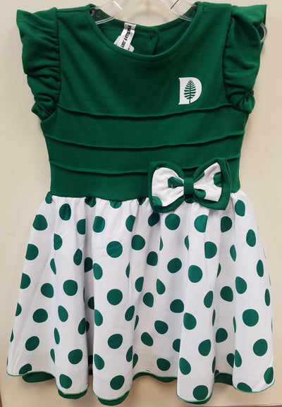 Dartmouth Pine Tree & Pink Lady Bug Pink Dress