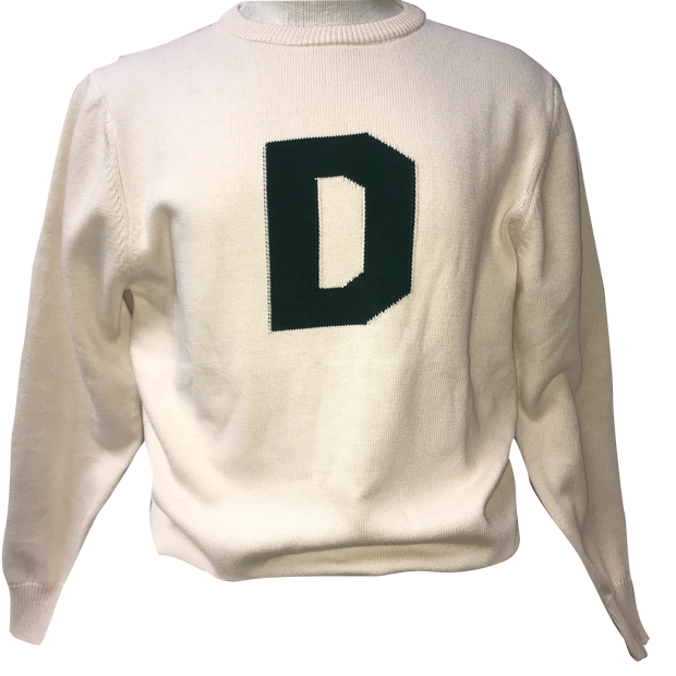 "College Theory Cotton ""D"" Sweater"