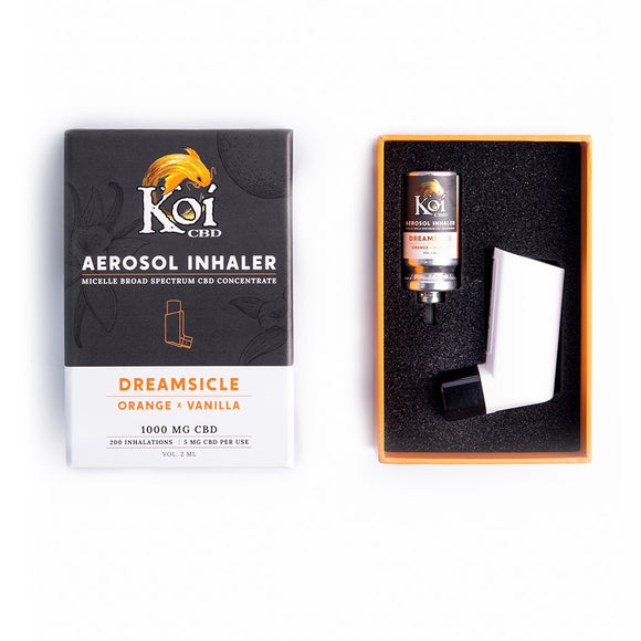 NEW ! KOI Aerosol Inhaler 2ml 1000mg Dreamsicle Pain Relief Anxiety PTSD Migraine Anti-Inflamatory