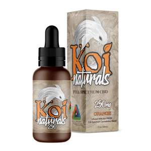 KOI Natural 250mg Orange Full Spectrum Great Flavors Anxiety Pain Relief