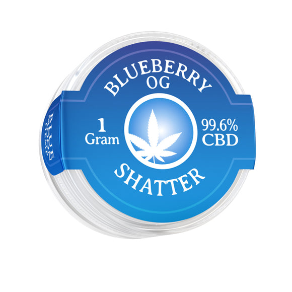 Shatter 996mg 1gr Cannabidiol Pain Relief Blueberry OG Organic Quality Anxiety