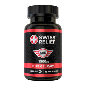 Swiss Relief Pain Relief Management Gel Cap 25mg Anti-Anxiety Anti-Inflamatory 30ct