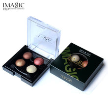 Load image into Gallery viewer, IMAGIC Professional Eyes Makeup Pigment Eyeshadow 4 Colors Waterproof Eye Shadow Palette With brushes Beauty - Vipbeautycompany.com