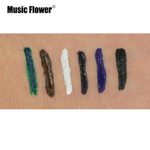 Music Flower Waterproof Liquid Eyeliner Pencil Lollipop Shape 24HR Long Lasting Eye Liner Pen Cosmetics Eye Makeup Set - Vipbeautycompany.com