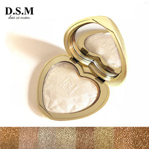 D.S.M Professional Highlighter Makeup Face Powder Highlighting Concealer Cosmetics Eyes Glow Kit Palette Bronzer and Highlighter - Vipbeautycompany.com