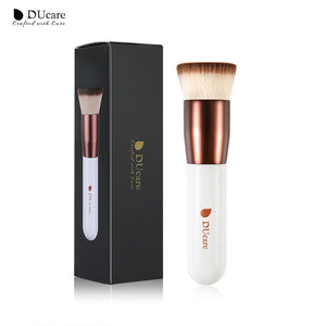 DUcare Foundation brush professional  liquid flat brushes for face makeup set tools beauty essential Make Up Brushes - Vipbeautycompany.com