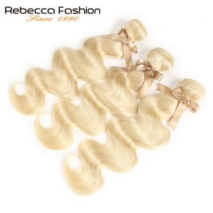 Blonde Bundles With Closure Brazilian Body Wave Remy Human Hair Weave Bundles 613 Honey Blonde Bundles With Closure wig - Vipbeautycompany.com