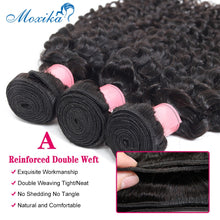 Load image into Gallery viewer, Moxika Water Wave Bundles With Closure 3 Pcs Brazilian Hair Weave Bundles With Closure Remy Human Hair Bundles With Closure - Vipbeautycompany.com