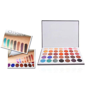 New Colors Powder Cosmetic Palette Eyeshadow Shadow 35 Matte Make Women Black ABS Up Pink 355g Eye - Vipbeautycompany.com