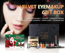 Load image into Gallery viewer, NICEFACE (Christmas set) Glitter Eye Makeup Powder Eyeliner Mascara False eyelashes Eye Shadow Liner Combination Set Beauty