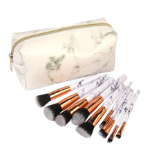 Load image into Gallery viewer, 2019 Professional 10pcs Marble Makeup Brushes Set Soft Foundation Powder Eyeshadow Brush Beauty Marble Make Up Tools.w - Vipbeautycompany.com