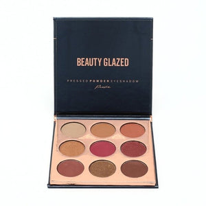 BEAUTY GLAZED Eyeshadow Pallete Cosmetics Makeup Waterproof Natural Glitter Luminous Matte Shimmer Eye Shadow Palette Powder