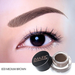 IMAGIC New Arrivals  Professional Eyebrow Gel 6 Colors High Brow Tint Makeup Eyebrow Brown Eyebrow Gel With Brow Brush Tools - Vipbeautycompany.com