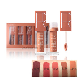 5 Pcs/Kit Matte Lip Gloss Matte Liquid Lipstick Lipgloss Set Red Velvet Sexy Color Lip Tint Stain Nude Kit Batom Nyxed Makeup - Vipbeautycompany.com