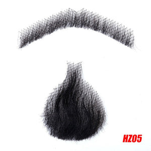 DIFEI Men's Fake Beard For Mustache Fake Beard Props Invisible Fake Weave Mustache Make-up Easy Props Simulation Beard - Vipbeautycompany.com