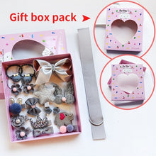 Load image into Gallery viewer, Raindo 18 Pcs/Box Children Cute Hair Accessories Set Baby Fabric Bow Flower Hairpins Barrettes Hair clips Girls Headdress Gift - Vipbeautycompany.com