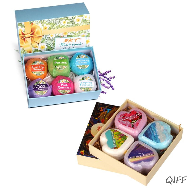 6Pcs Oil Control Bath Salt Body Essential Oil Bath Ball Natural Bubble SPA Bath Bombs Exfoliating Moisturizing Gift Set - Vipbeautycompany.com