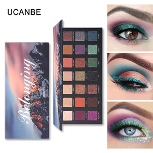 Beauty Glazed 18 Color Nude Shining Eyeshadow Palette Makeup Glitter Pigment Smoky Eye Shadow Pallete Waterproof Cosmetics - Vipbeautycompany.com