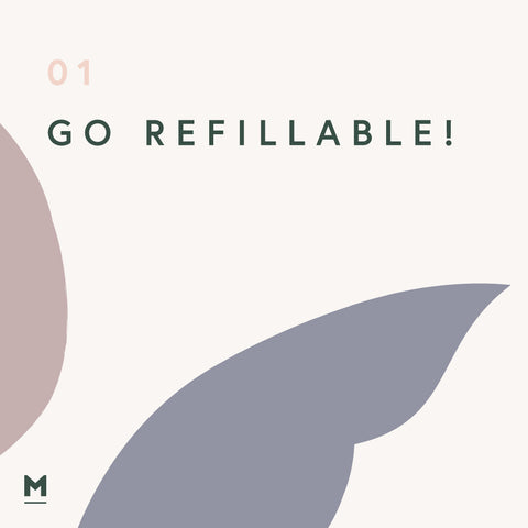 Sustainability at home - Go Refillable graphic