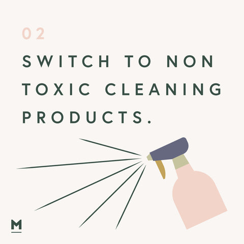 Sustainability at home - Non toxic cleaning products graphic