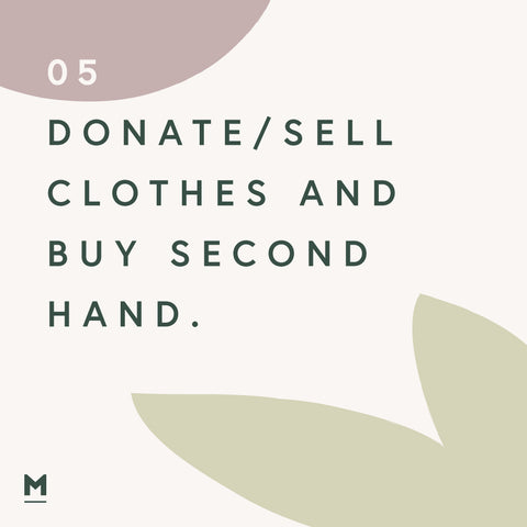 Sustainability at home - Buy second hand clothes graphic