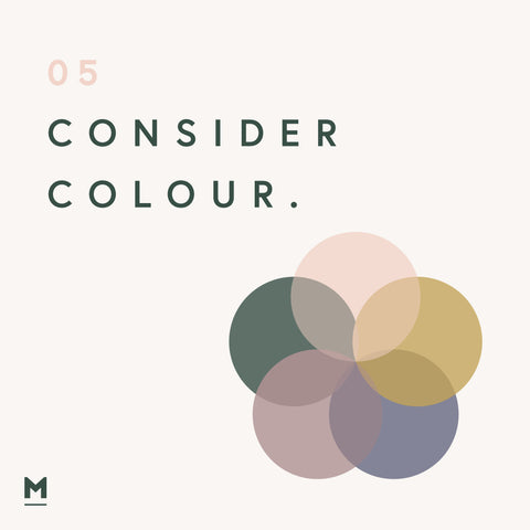 Consider Colour - wellbeing in the home graphic