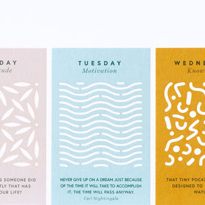 Motivational quote cards - daily affirmation cards