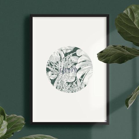 Grow Circle Print – Forest/Blue