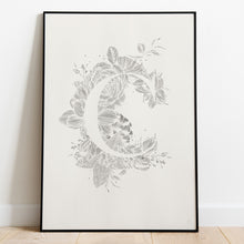 Load image into Gallery viewer, Botanical Alphabet Paper Cut Wall Art