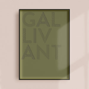 Gallivant Paper Cut Wall Art