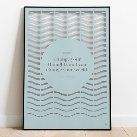Positivity: Motivation Paper Cut Wall Art