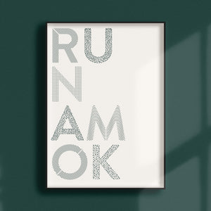 Run Amok Paper Cut Wall Art