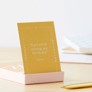 Motivational cards - Quote