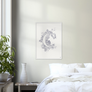 Large Botanical Letter C art print