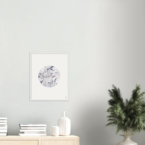 Breathe Circle Print – Blue/Mauve