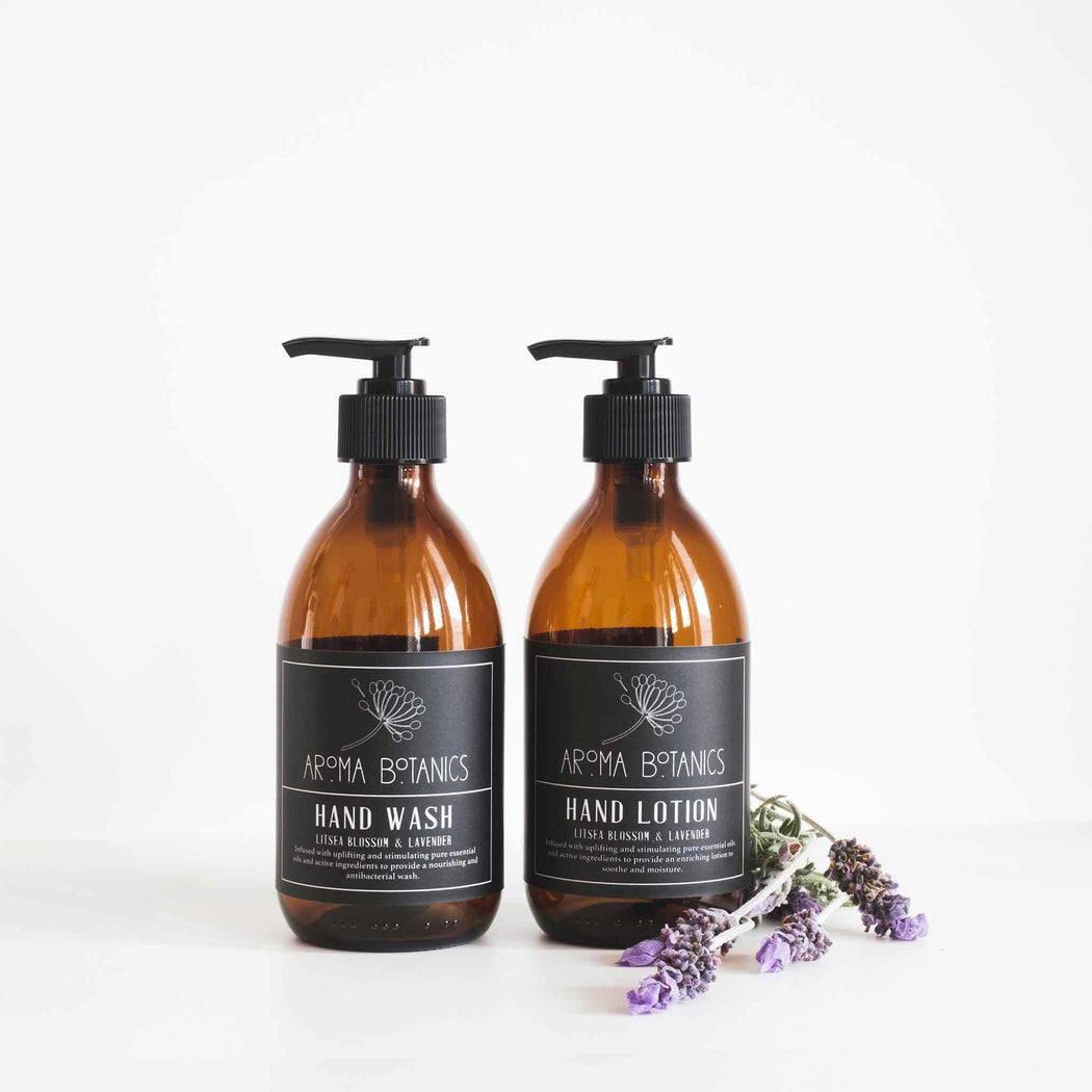 Aroma Botanics Lavender and Litsea Blossom Hand Wash and Lotion Set 300ml