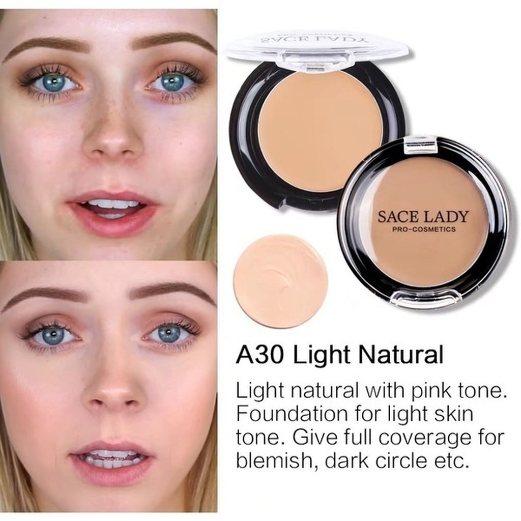 Sace Lady Full Coverage Cream Flawless Concealer Face Contouring Makeup Silky Smooth Texture