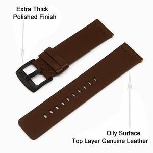 Genuine Leather Band for Samsung Galaxy Watch 42mm and Gear S2 Classic - Tech Gears
