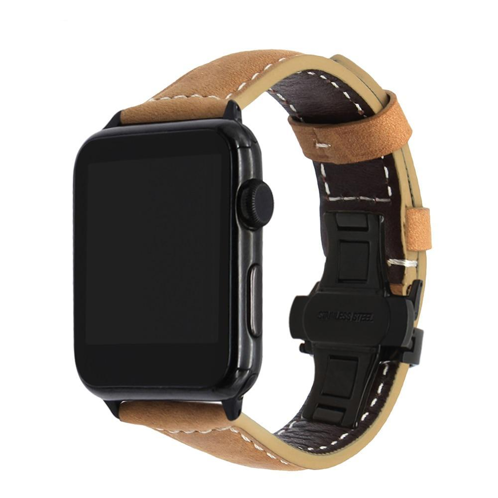 Italian Calf Leather Watch Bands for Apple Watch - Tech Gears