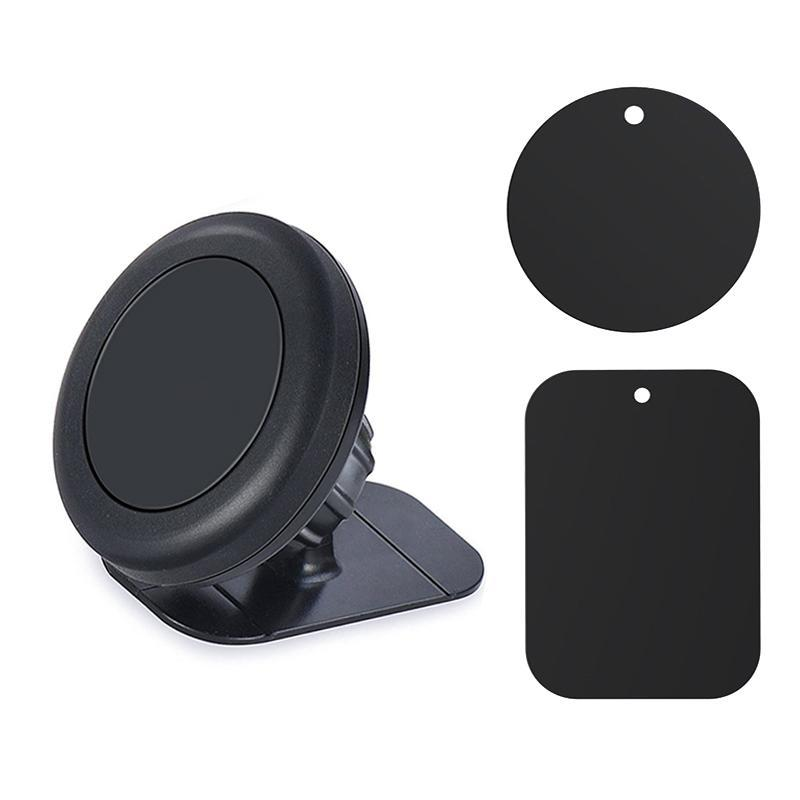Magnetic Car Phone Holder with Metal Plates - Tech Gears