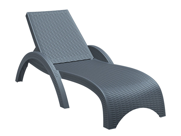 fiji sun lounger dark grey
