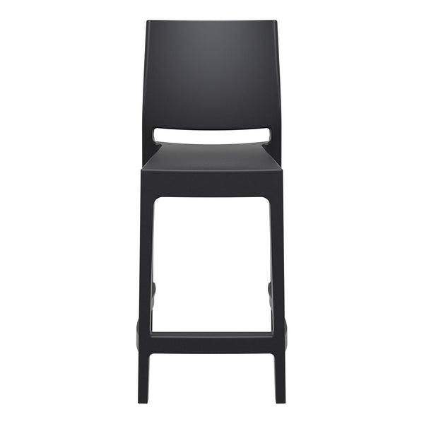 maya bar stool 65cm black