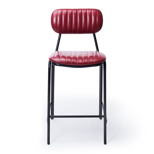 retro bar stool red p.u