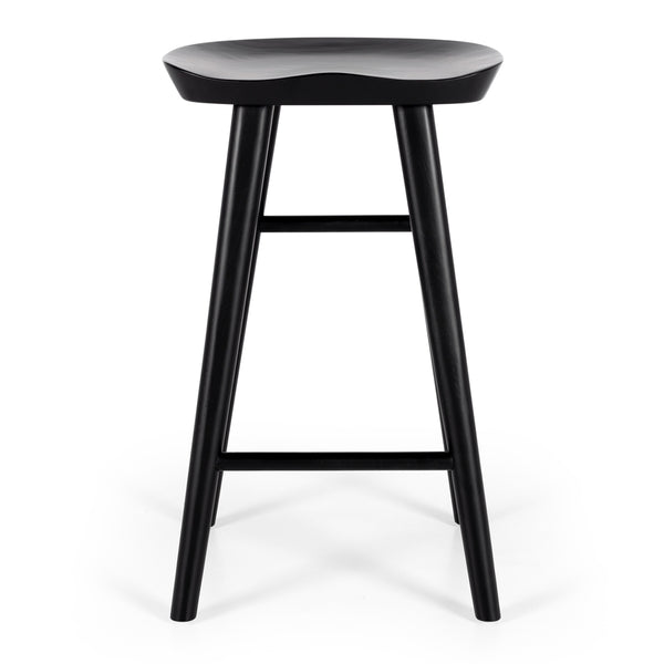 rivera bar stool black oak